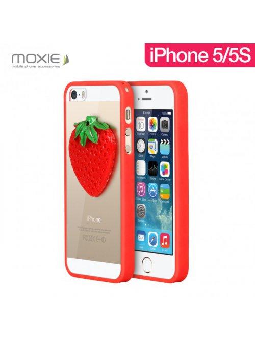 Coque Moxie 3D Fruits Fraise pour iPhone 5 et iPhone 5S