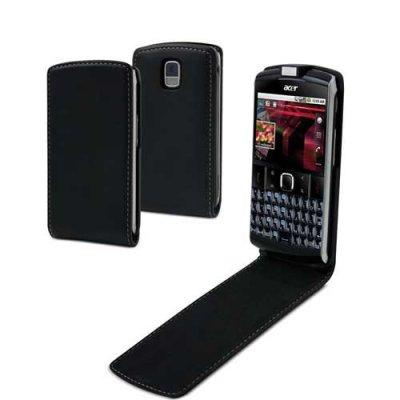 Housse clapet noire avec protege ecran compatible Acer Be touch E 210