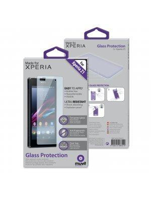 Muvit protection d'écran en verre trempé pour Sony Xperia Z1