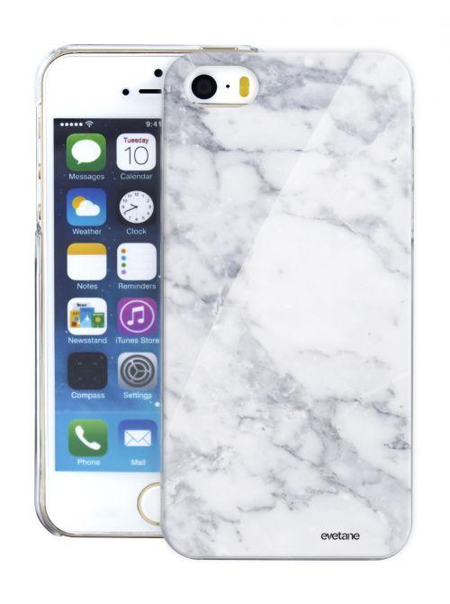 coque glossy rigide marbre white pour iphone 5 5s
