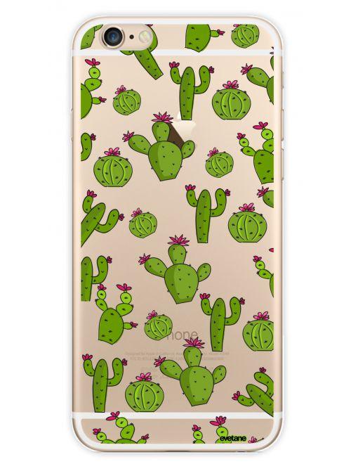 coque transparente cactus pour apple iphone 66s