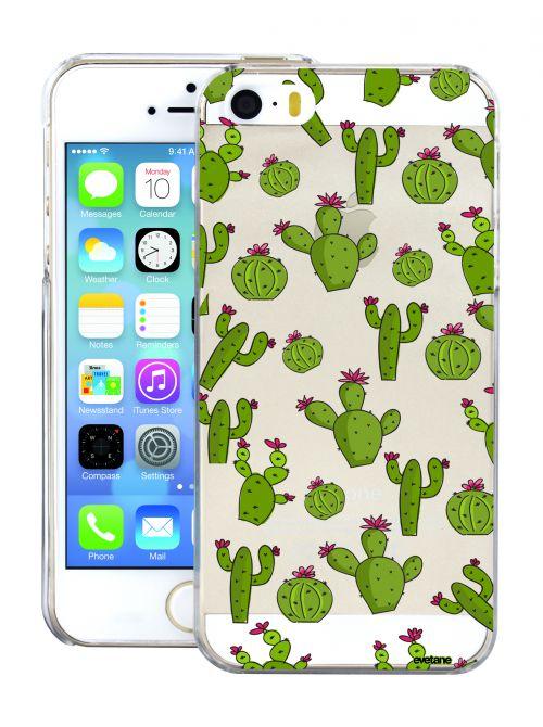 coque transparente cactus pour apple iphone 55s