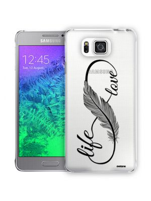 Coque transparente Love Life  pour Samsung Galaxy Alpha