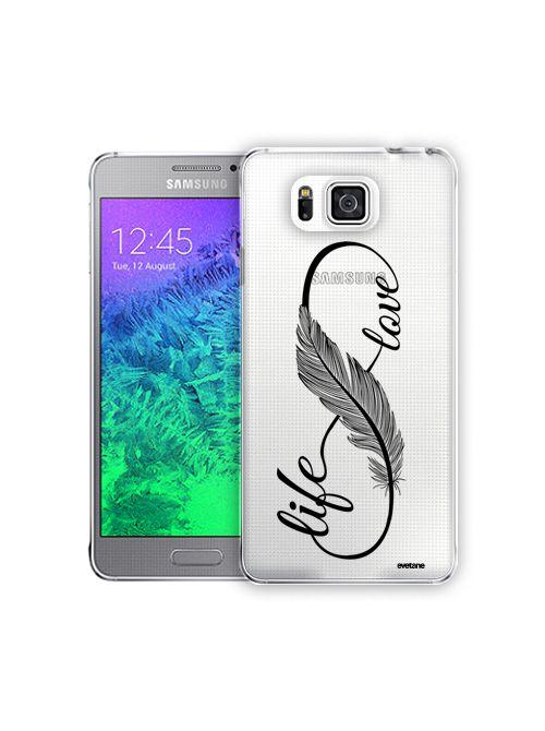 Coque transparente Love Life pour Samsung Galaxy Alpha