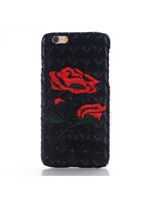 Coque Rose effet tressage noir pour Apple iPhone 6 Plus
