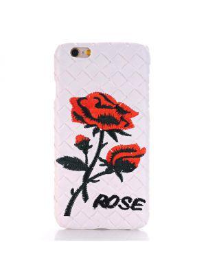 Coque Rose effet tressage blanc pour Apple iPhone 6 / 6S