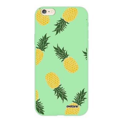 Coque iPhone 6/6S Silicone Liquide Douce vert pâle Ananas Motifs Ecriture Tendance et Design Evetane.
