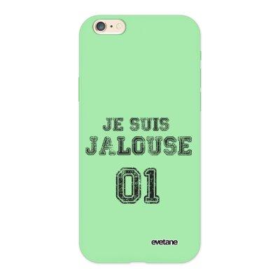 Coque iPhone 6/6S Silicone Liquide Douce vert pâle Jalouse 01 Ecriture Tendance et Design Evetane.