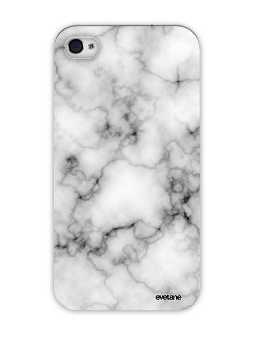 coque transparente rigide marbre blanc pour apple iphone 4 4s
