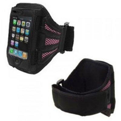 Brassard noir et rose iPhone 3G/3GS 4/4S & 5