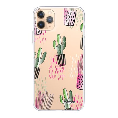 Coque iPhone 11 Pro 360 intégrale transparente Cactus motifs Ecriture Tendance Design Evetane