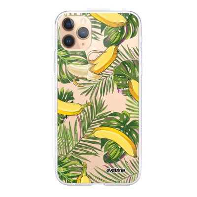 Coque iPhone 11 Pro 360 intégrale transparente Bananes Tropicales Ecriture Tendance Design Evetane