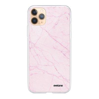 Coque iPhone 11 Pro 360 intégrale transparente Marbre rose Ecriture Tendance Design Evetane