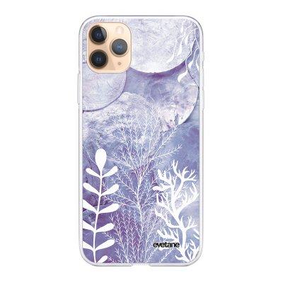 Coque iPhone 11 Pro 360 intégrale transparente Nacre et Algues Ecriture Tendance Design Evetane