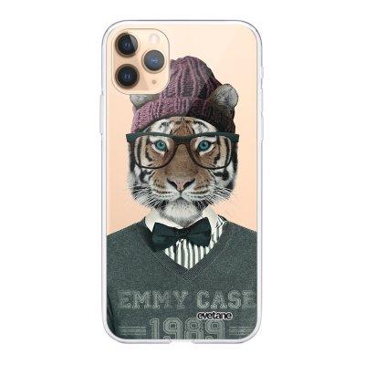 Coque iPhone 11 Pro 360 intégrale transparente Tigre Fashion Ecriture Tendance Design Evetane
