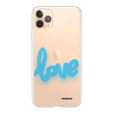 Coque iPhone 11 Pro Max 360 intégrale transparente Love Fluo Ecriture Tendance Design Evetane