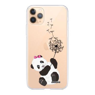 Coque iPhone 11 Pro Max 360 intégrale transparente Panda Pissenlit Ecriture Tendance Design Evetane