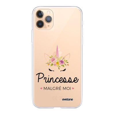 Coque iPhone 11 Pro Max 360 intégrale transparente Princesse malgré moi 2019 Ecriture Tendance Design Evetane