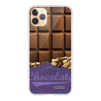 Coque iPhone 11 Pro Max 360 intégrale transparente Chocolat Ecriture Tendance Design Evetane