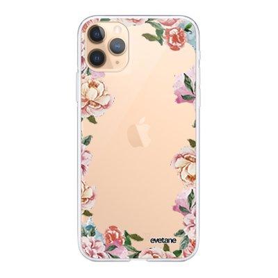 Coque iPhone 11 Pro Max 360 intégrale transparente Flowers Ecriture Tendance Design Evetane