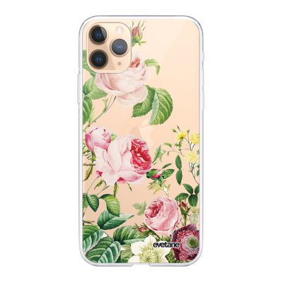 Coque iPhone 11 Pro Max 360 intégrale transparente Motifs Roses Ecriture Tendance Design Evetane