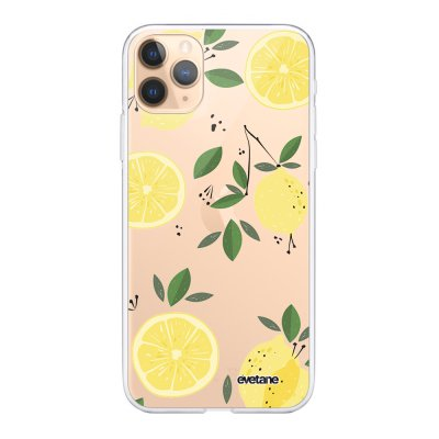 Coque iPhone 11 Pro Max 360 intégrale transparente Citrons Ecriture Tendance Design Evetane
