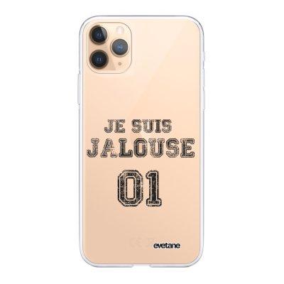 Coque iPhone 11 Pro Max 360 intégrale transparente Jalouse 01 Ecriture Tendance Design Evetane