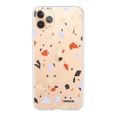 Coque iPhone 11 Pro Max 360 intégrale transparente Terrazzo Blanc Ecriture Tendance Design Evetane