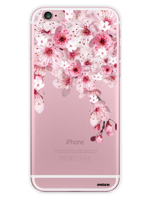 Coque rigide transparente Cerisiers pour iPhone 6/6S