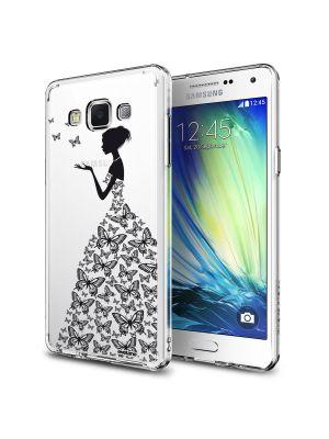 Coque rigide transparente silhouette papillons pour Samsung Galaxy Grand prime