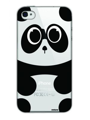 Coque transparente Panda pour Apple iPhone 4/4S