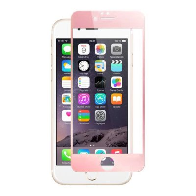 Vitre en verre trempé contour rose iPhone 6/6s