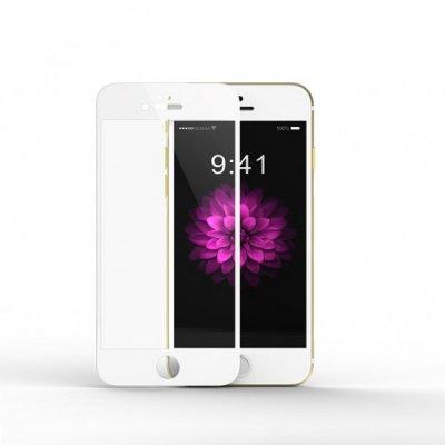 Vitre en verre trempé contour blanc iPhone 6/6s