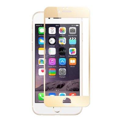 Vitre en verre trempé contour doré iPhone 6 Plus / 6s Plus