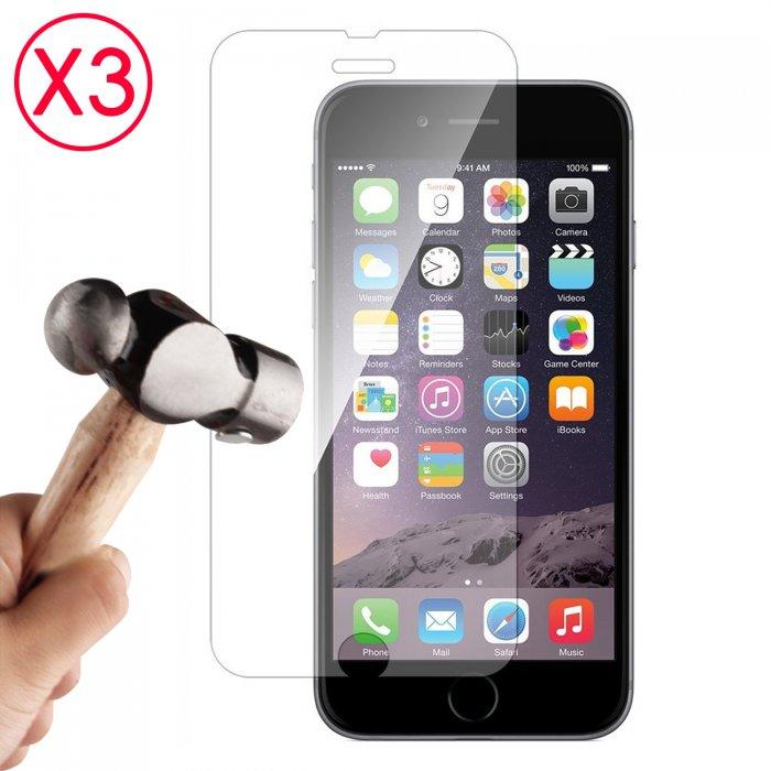 """Lot de 3 Vitres de protection anti-chocs en verre trempé EVETANE pour iPhone 6+ 5.5"""""""""""