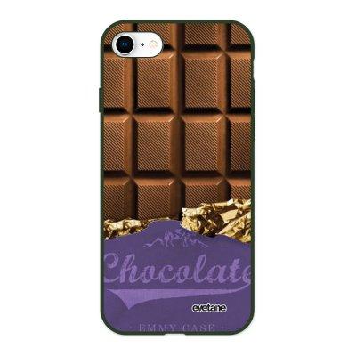 Coque iPhone 7/8/ iPhone SE 2020 Silicone Liquide Douce vert kaki Chocolat Ecriture Tendance et Design Evetane