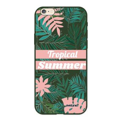 Coque iPhone 6/6S Silicone Liquide Douce vert kaki Tropical Summer Pastel Ecriture Tendance et Design Evetane