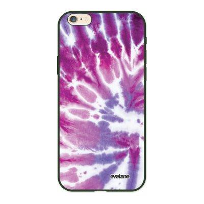 Coque iPhone 6/6S Silicone Liquide Douce vert kaki Tie and Dye Violet Ecriture Tendance et Design Evetane