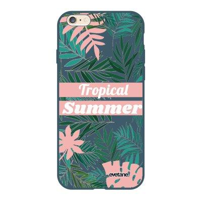 Coque iPhone 6/6S Silicone Liquide Douce bleu nuit Tropical Summer Pastel Ecriture Tendance et Design Evetane