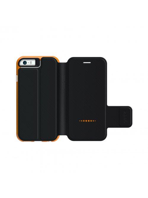 gear4 coque avec rabat gear4 d3o bookcase iphone 5 for iphone 5 5s transparent