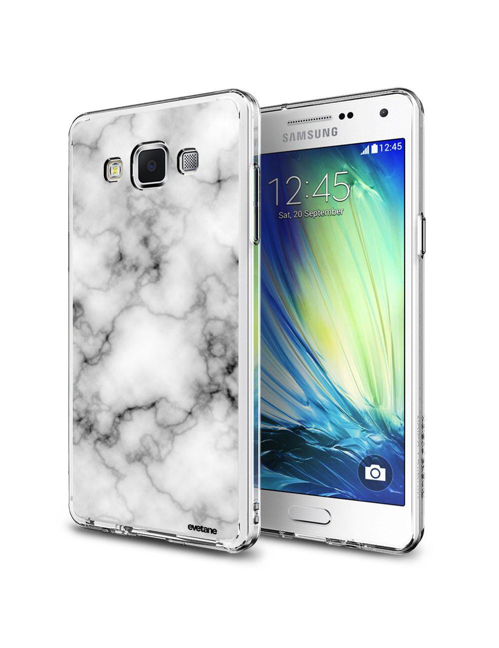 Coque Samsung Galaxy Grand Plus rigide transparente Marbre blanc ...