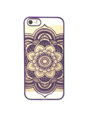 Coque transparente Rosace Violette pour iPhone 5/5S