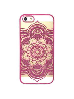 Coque transparente Rosace Rose pour iPhone 5/5S
