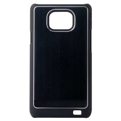 Coque alu brosse noire pour Samsung Galaxy S2 SWISS CHARGER