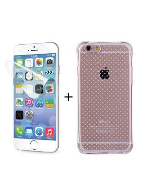 Coque souple transparente anti-chocs + film ultra résistance pour iPhone 6+/6S+