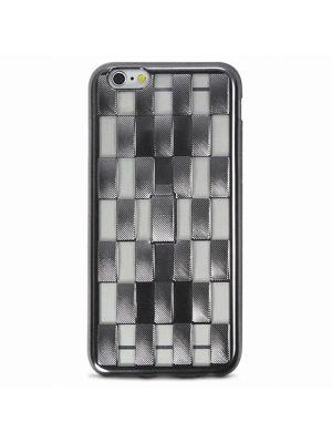 Mocca Coque gel noire tressée avec stand pour Apple iPhone 6/6S