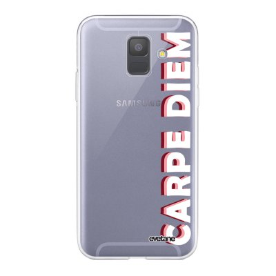 Coque Samsung Galaxy A6 2018 360 intégrale transparente Carpe Diem New Ecriture Tendance Design Evetane.