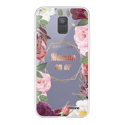 Coque Samsung Galaxy A6 2018 360 intégrale transparente Coeur Maman D'amour Ecriture Tendance Design Evetane.