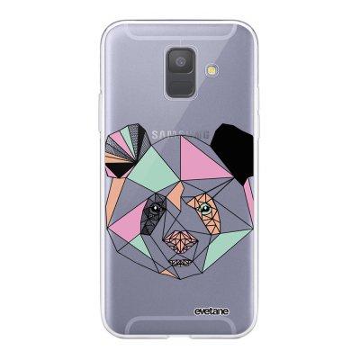 Coque Samsung Galaxy A6 2018 360 intégrale transparente Panda Outline Ecriture Tendance Design Evetane.
