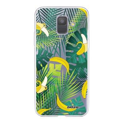 Coque Samsung Galaxy A6 2018 360 intégrale transparente Bananier Ecriture Tendance Design Evetane.